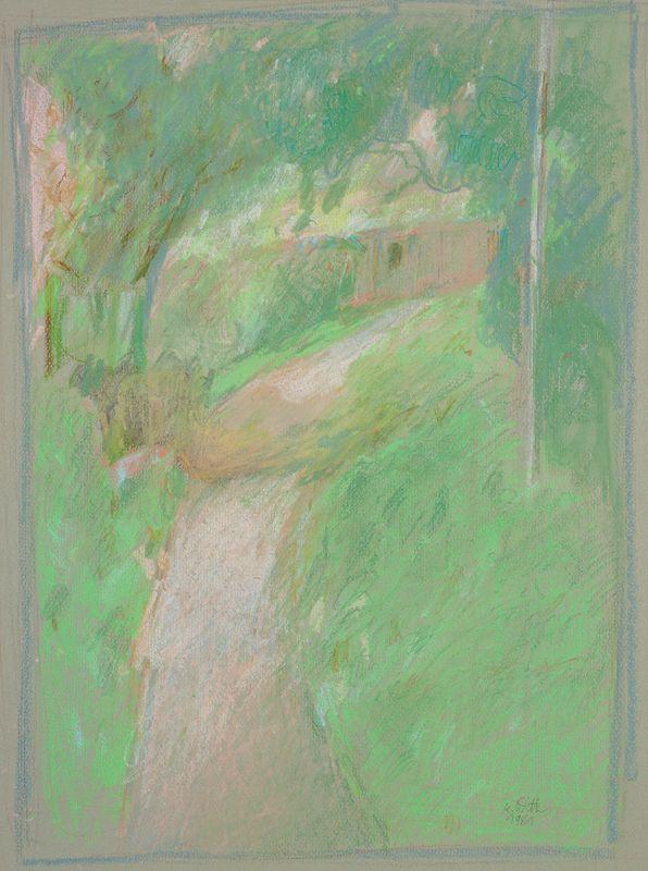 Provence 1981,  Kreide,  35,7 x 25,7 cm